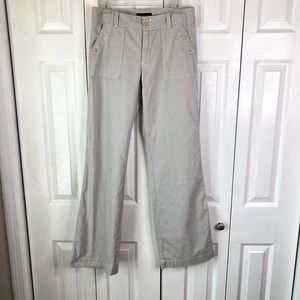 Banana Republic Factory Gray/White Pants size 6